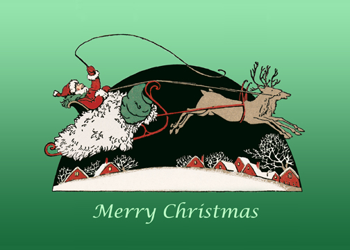Gliding Santa